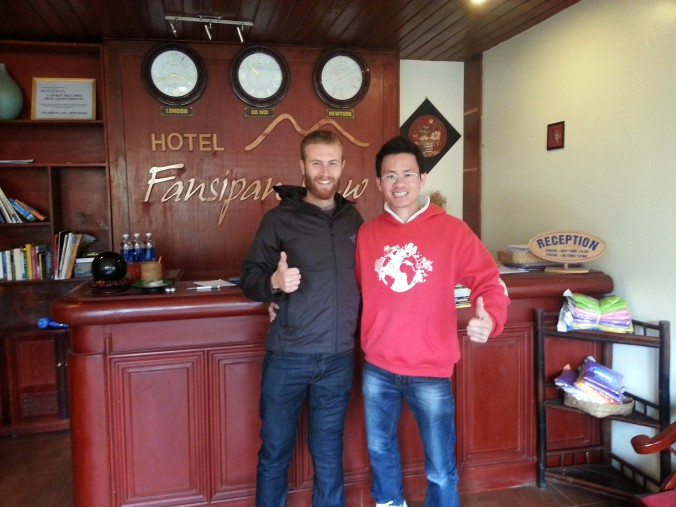 My friend Quang at Fansipan Hotel in Sapa