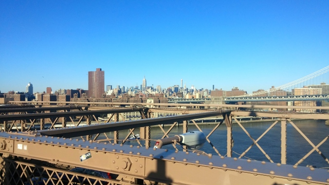 City Scape from the Brooklyn Bridge