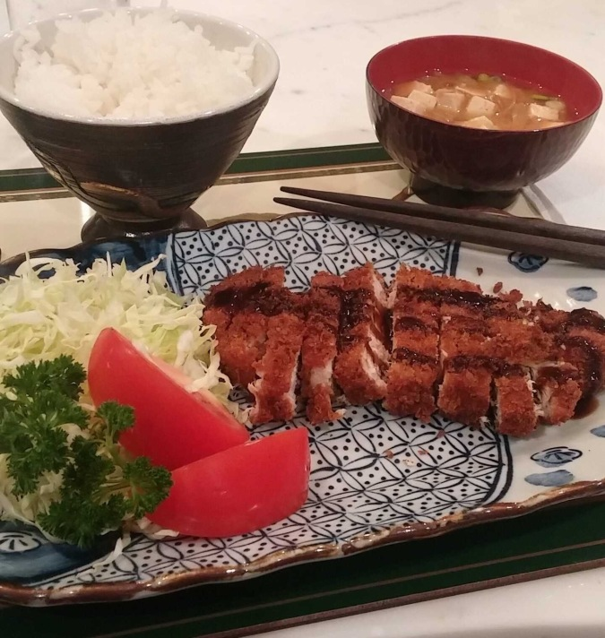 Tonkatsu in the kitchen