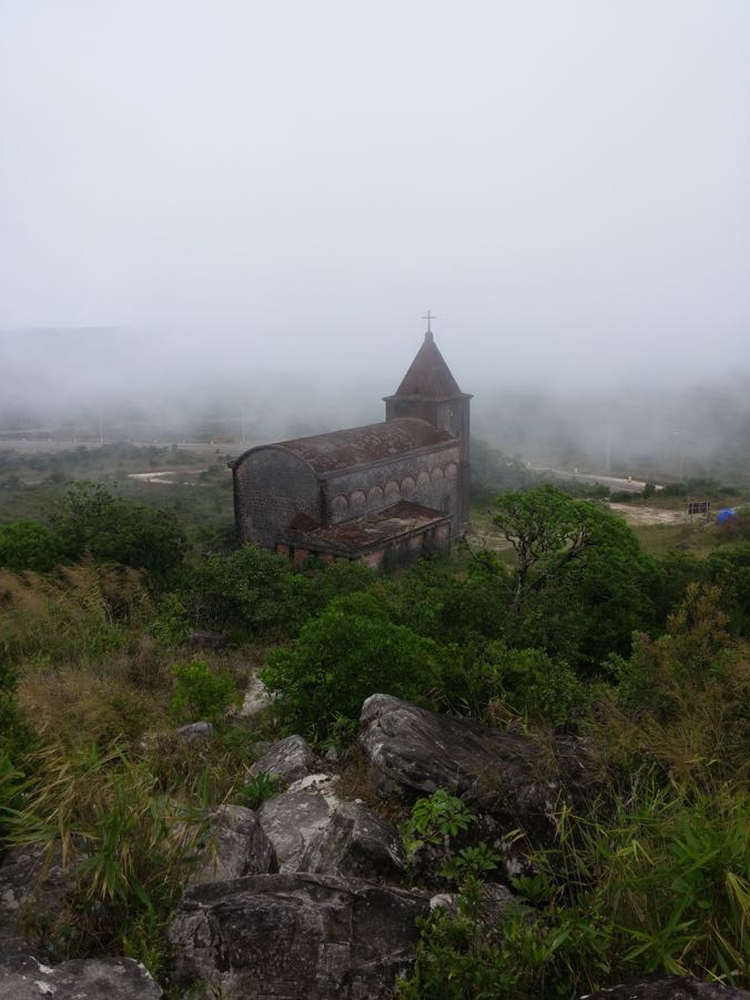 The eerie church, Bokor Hill Station