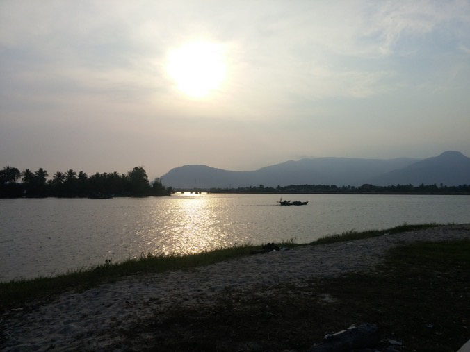 Sunset over ther river, Kampot