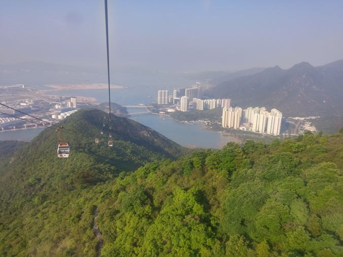 Cable car from Lantau.