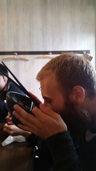 Learning the art of Japanese slurp.