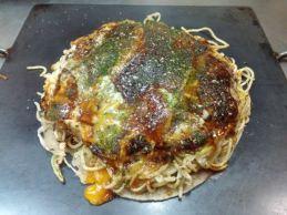 Hiroshima style Okonomiyaki.
