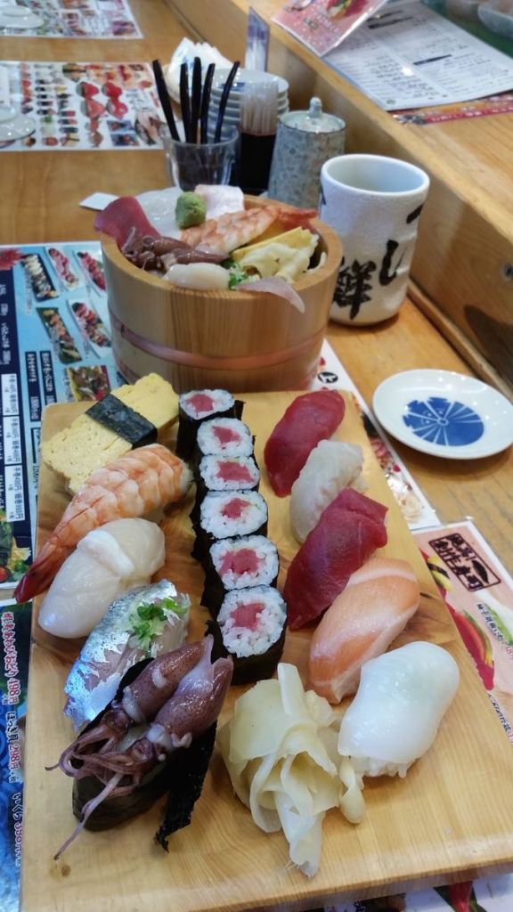 Sushi and Sashimi bowl from Tsukiji, the freshest I'll probably ever have.