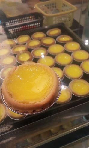 Egg tarts.