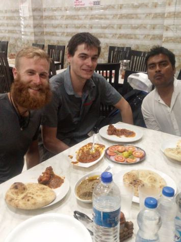 Dinner with a rickshaw driver.