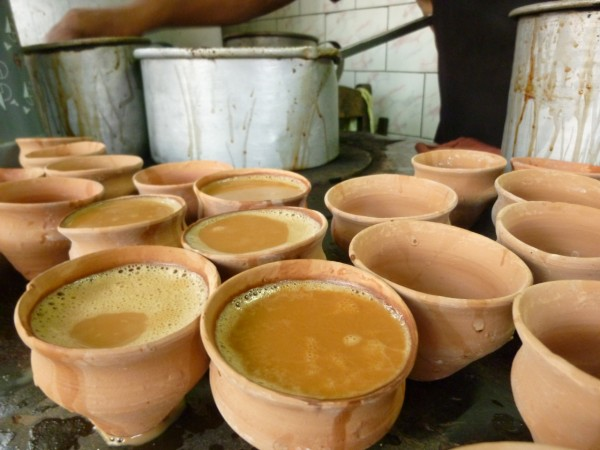 Sometimes chai comes in clay mugs.