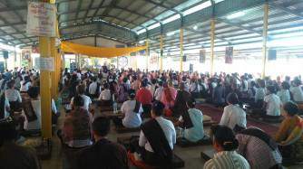 One of the larger Dhamma talks.