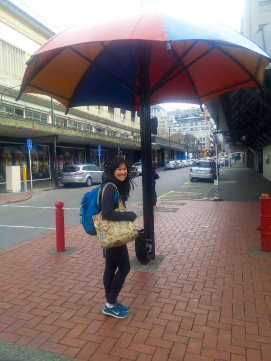 Look she's in Wellington!