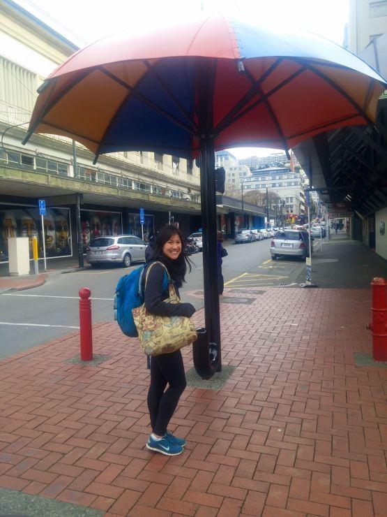 Look she's in Wellington!